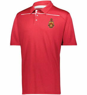Phi Kappa Tau Greek Crest Emblem Defer Polo