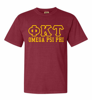 Phi Kappa Tau Greek Outline Comfort Colors Heavyweight T-Shirt