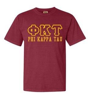 Phi Kappa Tau Greek Outline Comfort Colors Heavyweight T-Shirt