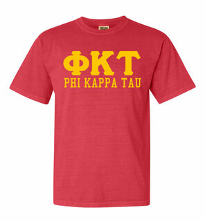 Phi Kappa Tau Greek Custom Comfort Colors Heavyweight T-Shirt
