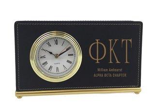 Phi Kappa Tau Horizontal Desk Clock