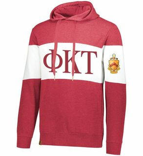 Phi Kappa Tau Ivy League Hoodie W Crest On Left Sleeve