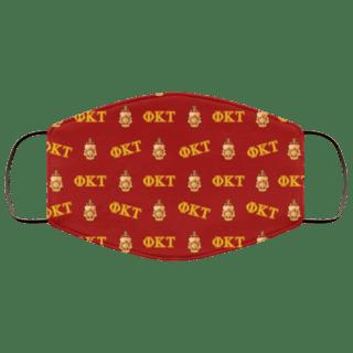 Phi Kappa Tau Letter Crest Face Masks