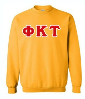 Phi Kappa Tau Sewn Lettered Crewneck Sweatshirt