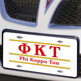 Phi Kappa Tau Lettered Lines License Cover