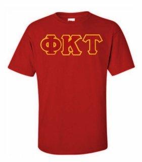 Phi Kappa Tau Lettered T-shirt - MADE FAST!