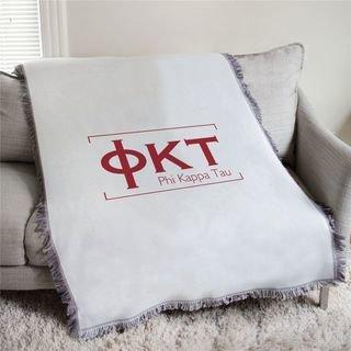 Phi Kappa Tau Letters Afghan Blanket Throw