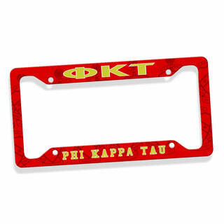 Phi Kappa Tau Custom License Plate Frame