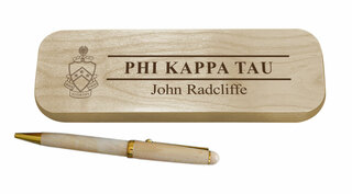 Phi Kappa Tau Maple Wood Pen Set