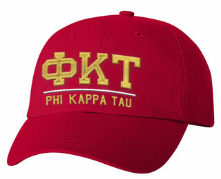Phi Kappa Tau Old School Greek Letter Hat