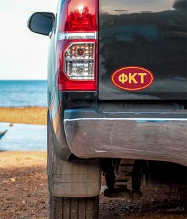 Phi Kappa Tau Oval Fraternity Car Magnet Set of 2
