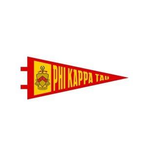 "Phi Kappa Tau Pennant Decal 4"" Wide"
