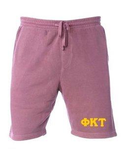 Phi Kappa Tau Pigment-Dyed Fleece Shorts