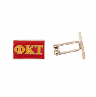 Phi Kappa Tau Rectangle Cuff Links