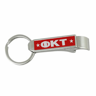 Phi Kappa Tau Stainless Steel Bottle Opener Key Chain