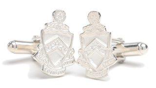 Phi Kappa Tau Sterling Silver Crest - Shield Cufflinks