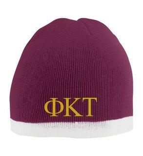 Phi Kappa Tau Two Tone Knit Beanie