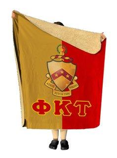 Phi Kappa Tau Two Tone Two Tone Sherpa Lap Blanket
