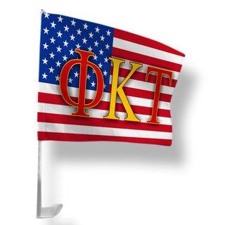 Phi Kappa Tau USA Car Flag