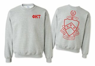 Phi Kappa Tau World Famous Crest - Shield Crewneck Sweatshirt- $25!