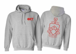 Phi Kappa Tau World Famous Crest - Shield Hooded Sweatshirt- $35!