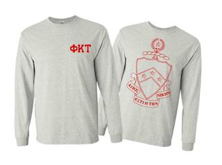 Phi Kappa Tau World Famous Crest - Shield Long Sleeve T-Shirt- $19.95!
