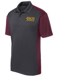 Phi Kappa Theta- $30 World Famous Greek Colorblock Wicking Polo