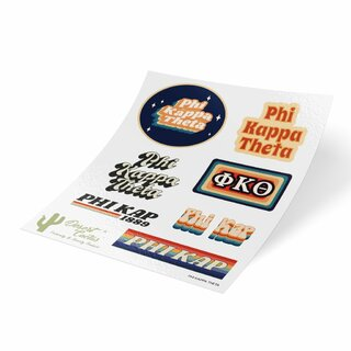 Phi Kappa Theta 70's Sticker Sheet