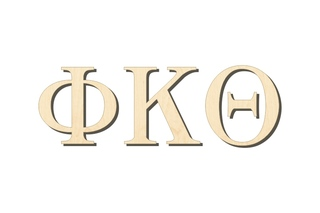 Phi Kappa Theta Big Wooden Greek Letters