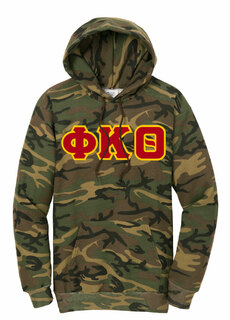 DISCOUNT-Phi Kappa Theta Camo Pullover Hooded Sweatshirt
