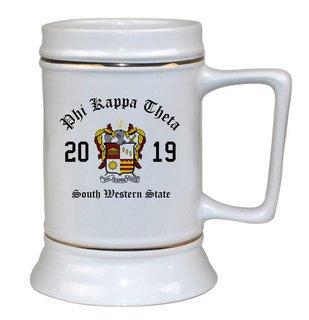 Phi Kappa Theta Ceramic Crest & Year Ceramic Stein Tankard - 28 ozs!