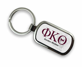 Phi Kappa Theta Chrome Crest - Shield Key Chain