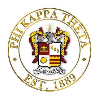 Phi Kappa Theta Circle Crest - Shield Decal