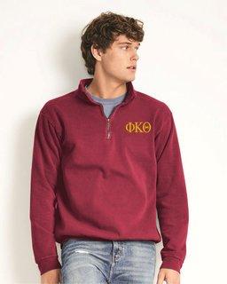 Phi Kappa Theta Comfort Colors Garment-Dyed Quarter Zip Sweatshirt