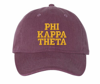 Phi Kappa Theta Pigment Dyed Baseball Cap
