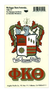 Phi Kappa Theta Crest - Shield Decal