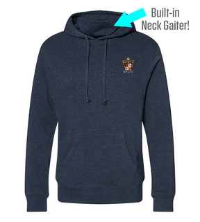Phi Kappa Theta Crest Gaiter Fleece Hooded Sweatshirt