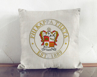 Phi Kappa Theta Crest Linen Pillow