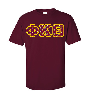 Phi Kappa Theta Fraternity Crest - Shield Twill Letter Tee