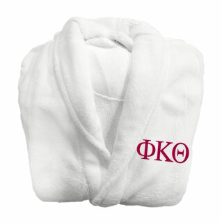 Phi Kappa Theta Fraternity Lettered Bathrobe