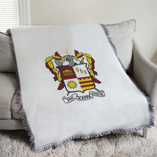 Phi Kappa Theta Full Color Crest Afghan Blanket Throw