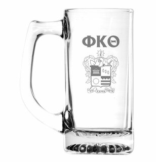 Phi Kappa Theta Glass Engraved 25 Ounce Mug