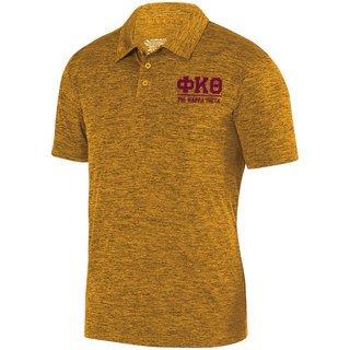 Phi Kappa Theta Greek Letter Intensify Heather Sport Polo
