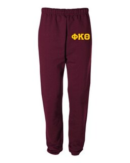Phi Kappa Theta Greek Lettered Thigh Sweatpants