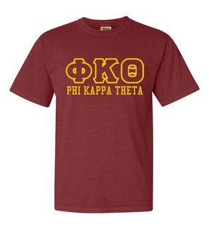 Phi Kappa Theta Greek Outline Comfort Colors Heavyweight T-Shirt