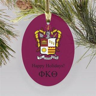 Phi Kappa Theta Holiday Color Crest - Shield Ornament