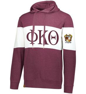 Phi Kappa Theta Ivy League Hoodie W Crest On Left Sleeve