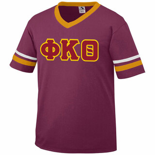 DISCOUNT-Phi Kappa Theta Jersey With Greek Applique Letters