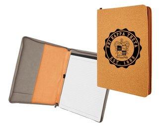 Phi Kappa Theta Leatherette Zipper Portfolio with Notepad