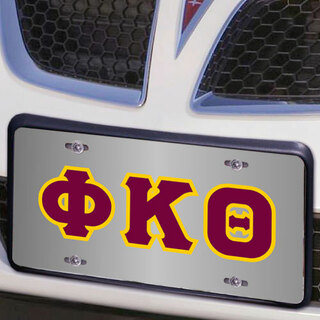 Phi Kappa Theta Lettered License Cover